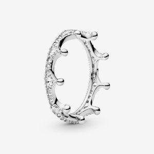 Pandora Clear Sparkling Crown Ring